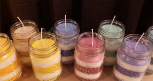 ساخت شمع های خانگی